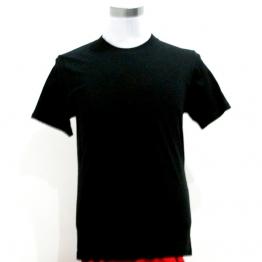 黑色纯棉短袖T恤