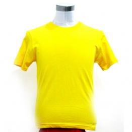 纯黄色短袖t恤男女宽松