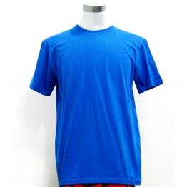 蓝色打底男女T恤